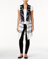 INC International Concepts Petite Striped Sleeveless Duster, Only at Macy's