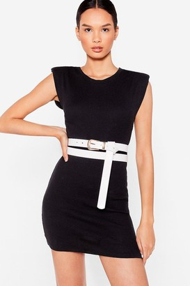 Nasty Gal Womens That's a Wrap Croc Faux Leather Belt - White - ONE SIZE, White