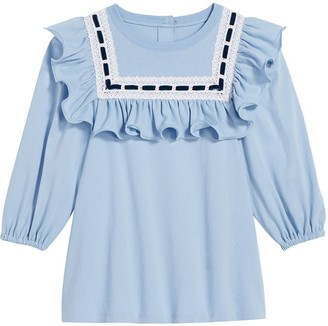 Marc Jacobs Lace-Trimmed Cotton Blouse