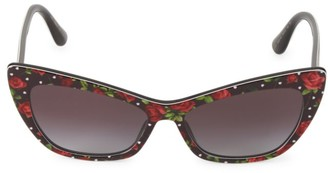 Dolce & Gabbana 56MM Cat Eye Rose Sunglasses