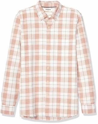 Goodthreads mens Slim-fit Long-sleeve Chambray Shirt Long Sleeve Button Down Shirt - blue -