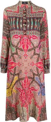 Etro Printed Shirt Midi Dress