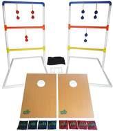 Yolo Sports Ultimate Toss Duo 10 Piece Cornhole and Ladder Ball Set