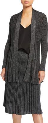 T Tahari Long-Sleeve Open Front Pleat Cardigan