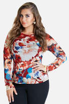 Fashion to Figure Feronia Floral Mesh Top