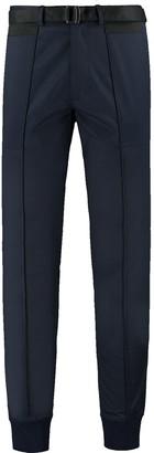 Ribbed Hem Stretch-Cotton Twill Pants - Navy/Black