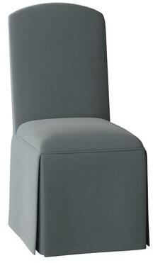 Sloane Crescent Side Chair Whitney Body Fabric: Angela Cloud, Ribbon Trim: Angela Cloud