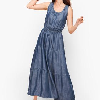 Talbots Tencel Tiered Maxi Dress