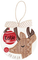 Mud Pie Holiday Personalizable Reindeer Ornament