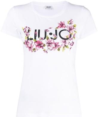 Liu Jo floral-print logo T-shirt
