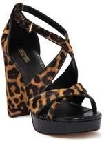 MICHAEL Michael Kors Lorene Cheetah Genuine Calf Hair Platform Sandal