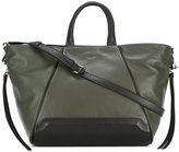 DKNY contrast tote bag - women - Leather - One Size