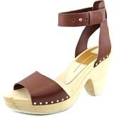 Dolce Vita Nalia Women Open Toe Leather Platform Sandal, Burnt Henna, Size 7.0