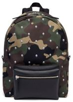 Alexander McQueen Calf Leather Camouflage Skull Patterned Backpack