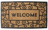J & M Home Fashions Light Swirls Welcome Natural Coir and Rubber Doormat, 18-Inch by 30-Inch