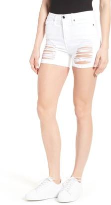 Good American Destroyed Cutoff Denim Shorts (Regular & Plus)