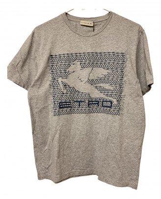 Etro Grey Cotton T-shirts