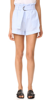 MinkPink Stripe D Ring Paperbag Shorts