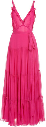 Alexis Tasha Ruffled Tiered Chiffon Maxi Dress