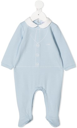 Emporio Armani Kids Suiting Cotton Pajamas