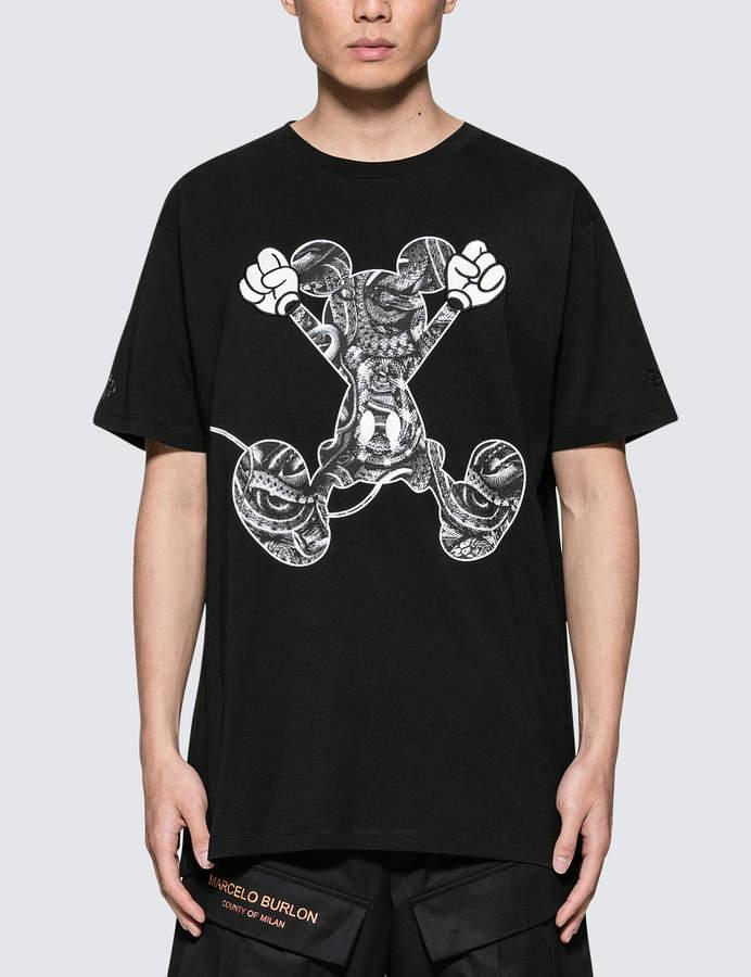 Marcelo Burlon County of Milan Mickey Mouse Jump T-Shirt