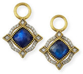 Jude Frances Lisse 18K Delicate Cushion Sapphire Earring Charms with Diamonds