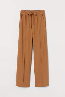 H&M Wide-cut Pull-on Pants - Beige