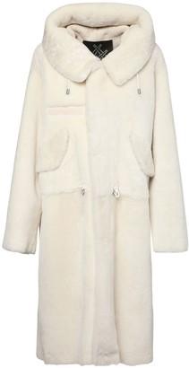 Mr & Mrs Italy Hooded Long Fur Coat