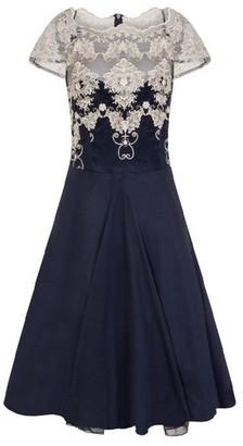 Dorothy Perkins Womens *Chi Chi London Navy Cap Sleeve Tea Dress, Navy