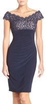 Xscape Evenings Women's Lace & Jersey Sheath Dress