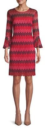 Trina Turk Jacquard Lace Mini Dress