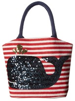 Mud Pie Boathouse Totes - Whale Tote Handbags