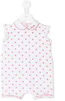 Armani Junior star print babygrow - kids - Cotton/Spandex/Elastane - 3 mth
