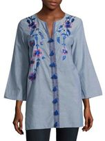 Kas Embroidered Cotton Tunic