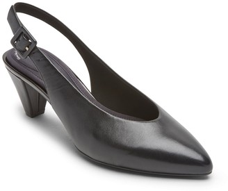 Rockport Saleya Leather Slingback Pump - Wide Width Available