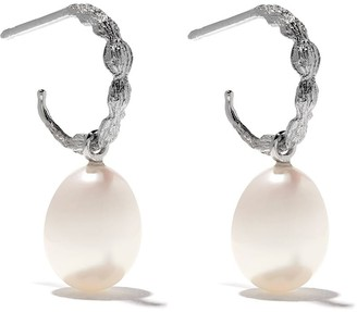 Wouters & Hendrix Gold 18kt white gold Organic Pearl hoops