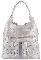 Hogan Metallic Leather Shoulder Bag