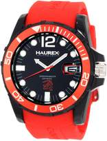 Haurex Italy Men's Caimano Date Dial Rubber Sport Watch N1354UNR