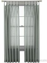 Martha Stewart Marthawindow Flutter Skinny Tab-top Curtain Panel - Sheer Gray Storm - 50 X 95