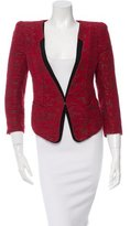 Mackage Patterened Single-Hook Blazer