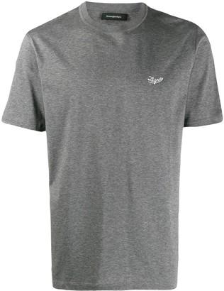 Ermenegildo Zegna logo embroidered T-shirt