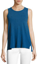 Current/Elliott The Muscle Tee in Star Print, Blue