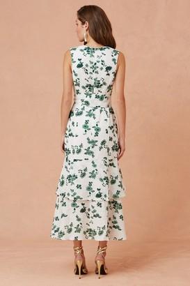 Keepsake FALLEN DRESS ivory w jade floral