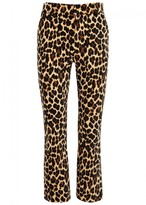 Frame Cheetah-print Cropped Trousers