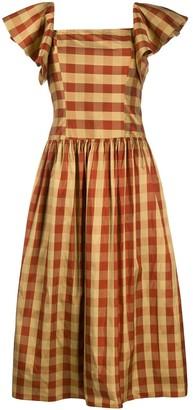 Batsheva Gingham Check Dress
