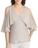 Lauren Ralph Lauren Cold Shoulder Silk Blouse