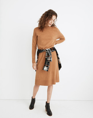 Madewell Petite (Re)sourced Cashmere Mockneck Midi Sweater Dress