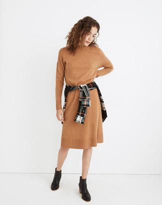 Madewell (Re)sourced Cashmere Mockneck Midi Sweater Dress