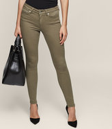 Reiss Stevie - Low-rise Skinny Jeans in Brown, Womens