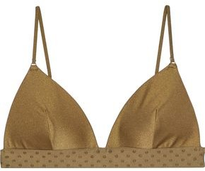 Zimmermann Jacquard-trimmed Triangle Bikini Top